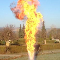 Flamme der Explosion